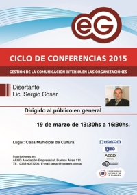 CONFERENCIA: COMUNICACIÓN INTERNA